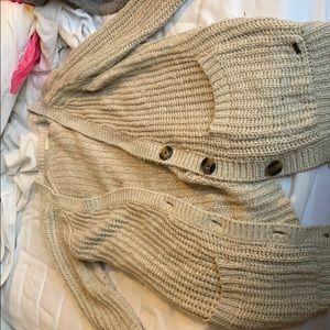 Long garage sweater